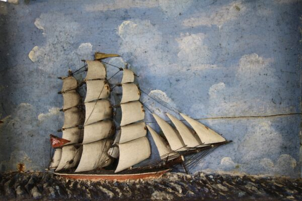 Wonderful 19th Century English Antique Ship Diorama | Miles Griffiths Antiques