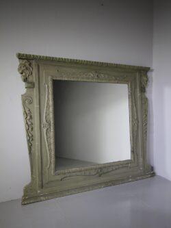 19th Century Antique Lions Head Wall Mirror