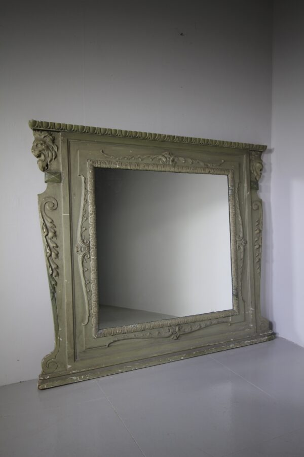 19th Century Antique Lions Head Wall Mirror | Miles Griffiths Antiques