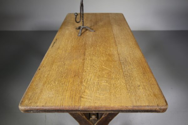 Early 19th Century Antique Oak X Frame Tavern Table | Miles Griffiths Antiques