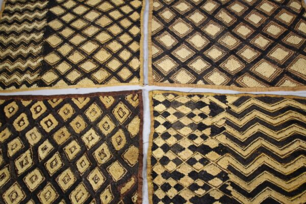 Collection of Four Early 20th Century Kuba Cloths | Miles Griffiths Antiques