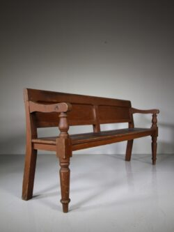 English Antique Hallway Bench Seat -12 Available