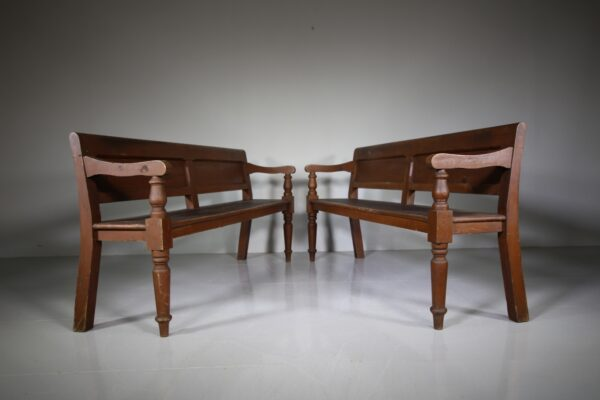 English Antique Hallway Bench Seat -12 Available   Miles Griffiths Antiques