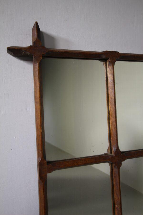 19th Century Antique Oak Oxford Mirror | Miles Griffiths Antiques