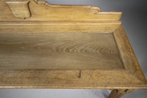 English 19th Century Antique Oak Hall Bench Seat | Miles Griffiths Antiques