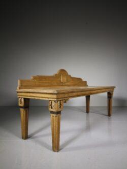 English 19th Century Antique Oak Hall Bench Seat
