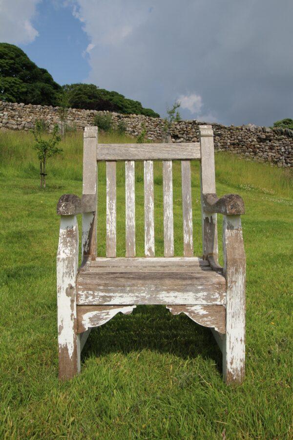 Edwardian Antique Teak Garden Armchair | Miles Griffiths Antiques