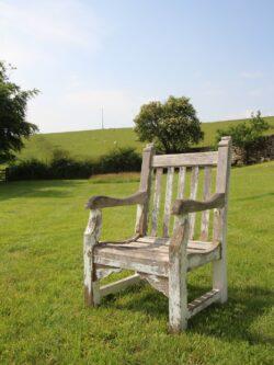 Edwardian Antique Teak Garden Armchair