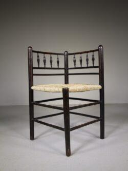 William Morris & Co Antique Sussex Corner Armchair