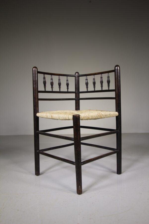 William Morris & Co Antique Sussex Corner Armchair | Miles Griffiths Antiques