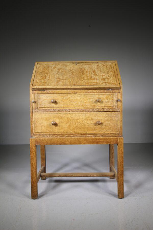 1920's Heals of London Oak Bureau - Labelled | Miles Griffiths Antiques