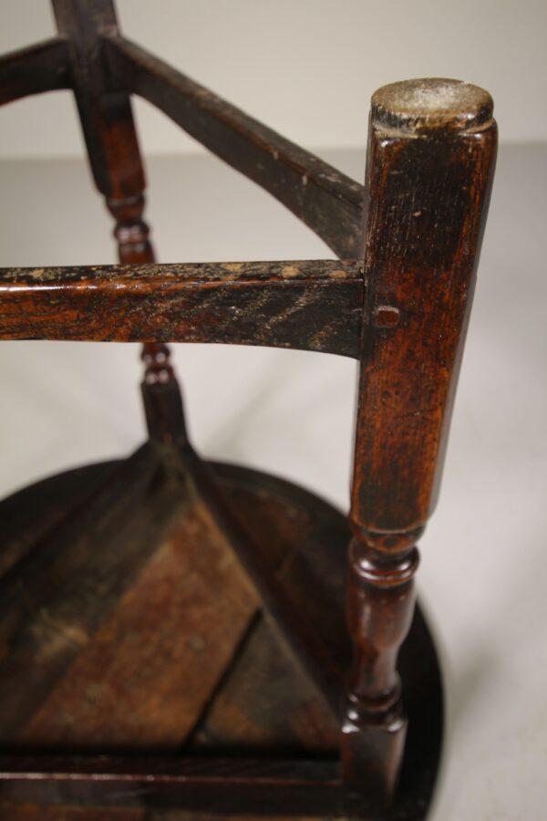 English 17th Century Antique Oak Cricket Table - Fine Example   Miles Griffiths Antiques