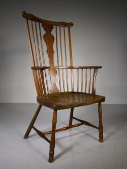 Georgian Antique Fruitwood Windsor armchair from the West Country