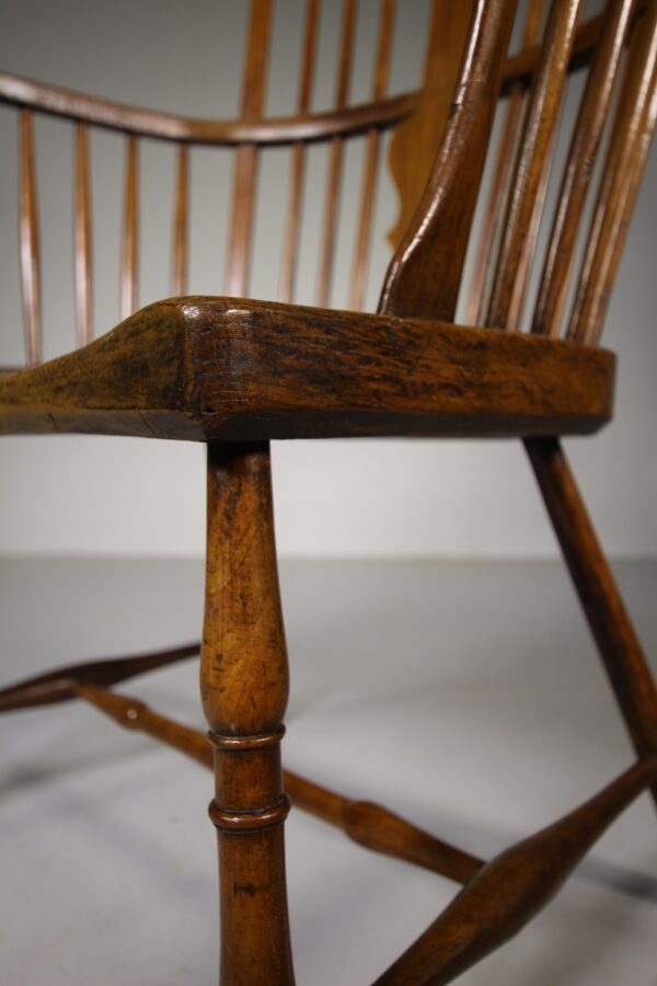 Georgian Antique Fruitwood Windsor armchair from the West Country | Miles Griffiths Antiques