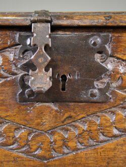 English 17th Century Antique Oak Box