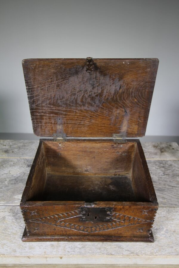 English 17th Century Antique Oak Box | Miles Griffiths Antiques