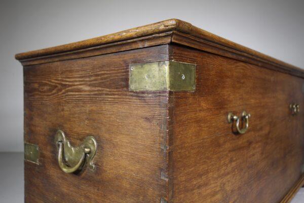 Huge Georgian Antique Oak Bedding Box-Great Quality   Miles Griffiths Antiques