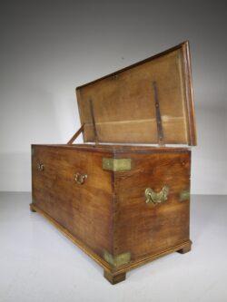 Huge Georgian Antique Oak Bedding Box-Great Quality