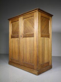 English 19th Century Antique Linen Press Cupboard