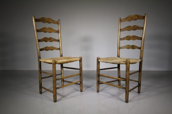 Pair of Antique Pass High Back Chairs by Neville Neal   Miles Griffiths Antiques