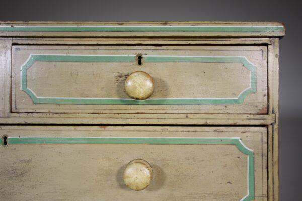 Fabulous Original Painted Pine Regency Antique Chest of Drawers   Miles Griffiths Antiques
