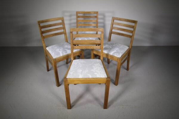 Set of Four 1930's Oak Dining Chairs   Miles Griffiths Antiques