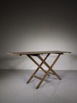 English 19th Century Original Painted Pine Antique Table