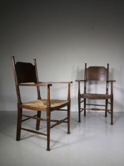 Pair of 19th Century William Birch Antique Armchairs
