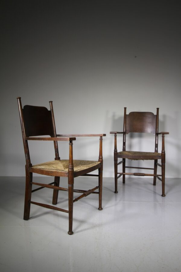 Pair of 19th Century William Birch Antique Armchairs | Miles Griffiths Antiques