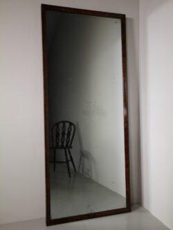 Large Mid 19th Century Mahogany Mirror – Original Plate