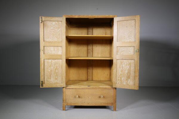 Heals Antique Oak Tall Boy Cupboard   Miles Griffiths Antiques