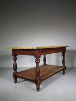 Impressive Large English Antique Preparation Table / Island