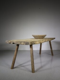 Large 19th Century Antique Pig Bench Table