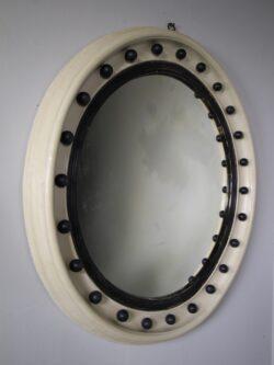 Large English 19th Century Antique Convex Mirror
