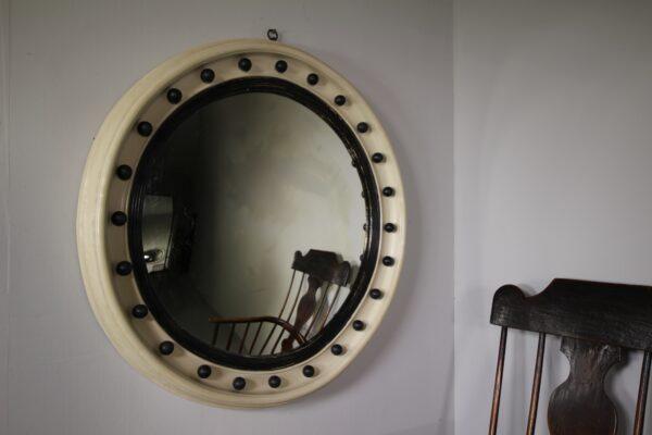Large English 19th Century Antique Convex Mirror | Miles Griffiths Antiques