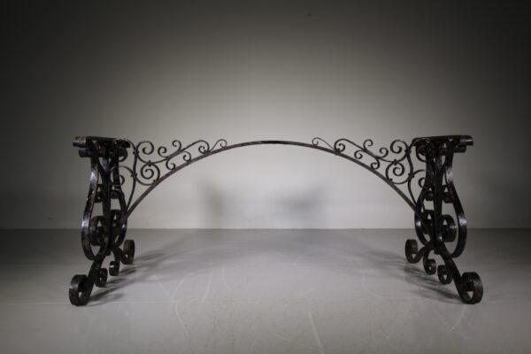 Large 19th Century English Antique Oak & Iron Dining / Centre Table   Miles Griffiths Antiques