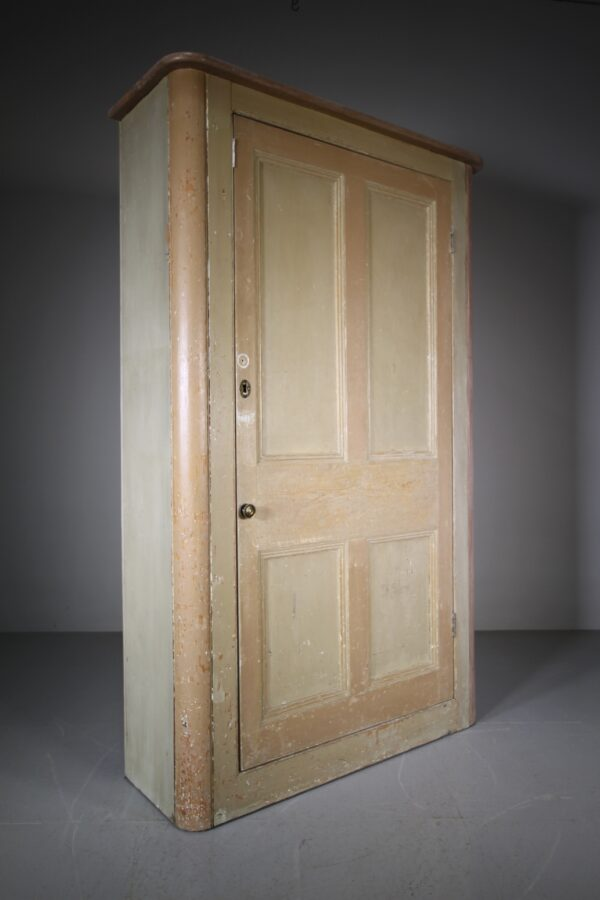 English Original Painted Pine Antique Cupboard | Miles Griffiths Antiques