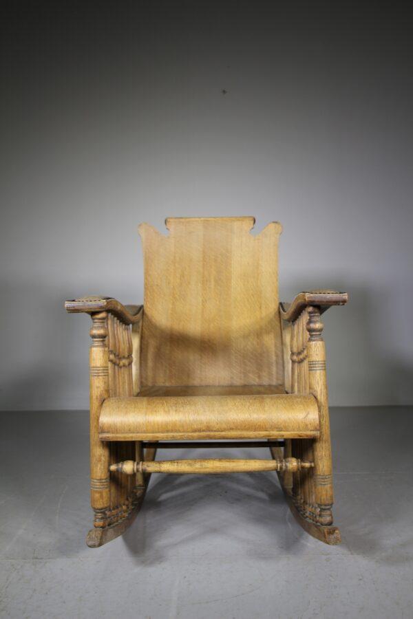 19th Century Antique Oak Rocking Chair   Miles Griffiths Antiques