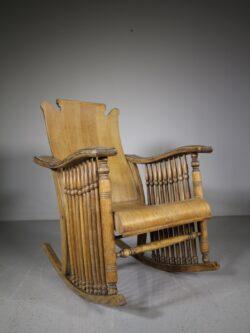 19th Century Antique Oak Rocking Chair