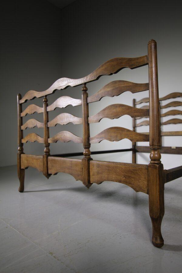 Heals Edwardian Antique Oak Double Bed