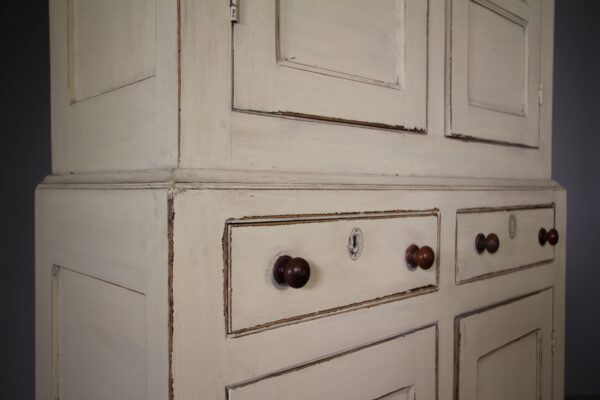 Georgian Welsh Antique Bread & Cheese Cupboard in Paint   Miles Griffiths Antiques