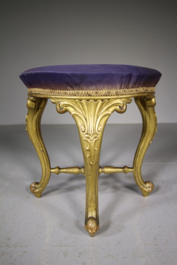 19th Century Antique Original Gilt Stool   Miles Griffiths Antiques