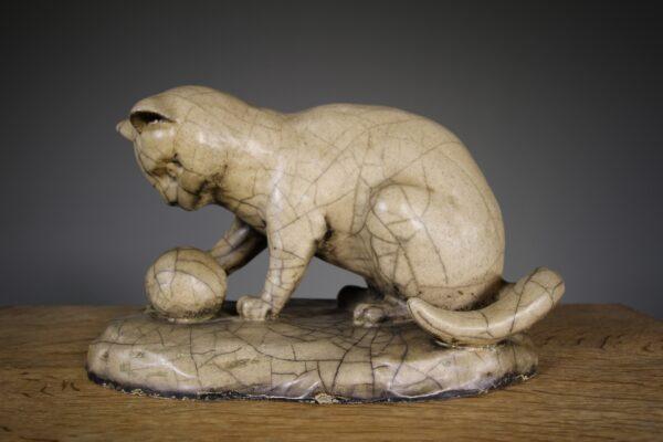 Rare English 19th Century Antique Lefco Cat   Miles Griffiths Antiques