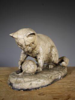 Rare English 19th Century Antique Lefco Cat