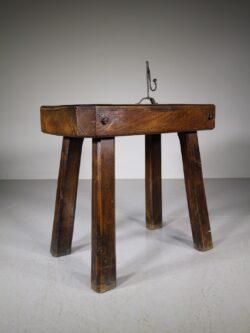 English 19th Century Antique Elm Chopping Table