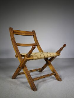English 19th Century Antique Folding Campaign Chair