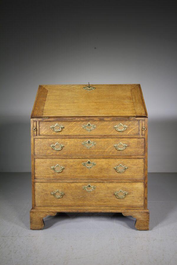 English Georgian Antique Oak Bureau | Miles Griffiths Antiques