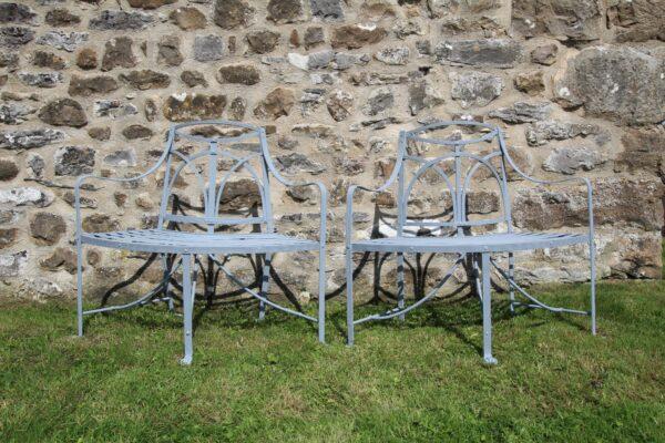 Wonderful Original Pair of Regency Antique Iron Garden Seats | Miles Griffiths Antiques