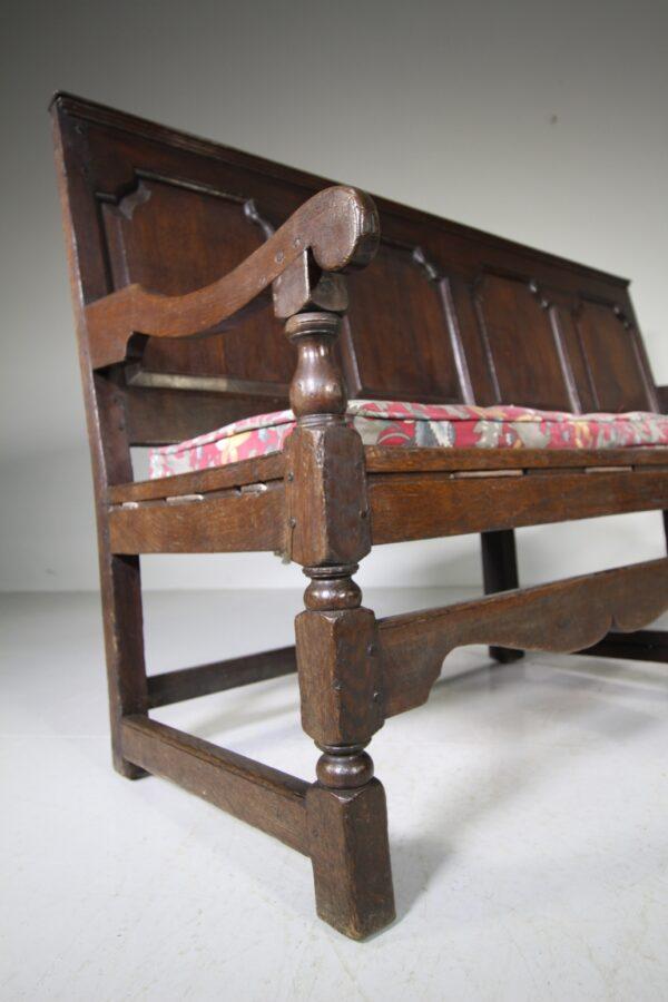 English 18th Century Large Antique Period Oak Settle | Miles Griffiths Antiques
