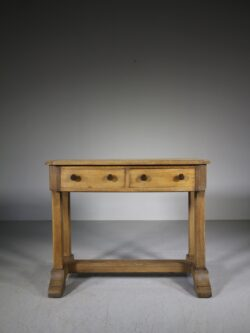 1920's Heals Oak Oxford College Desk – Labelled